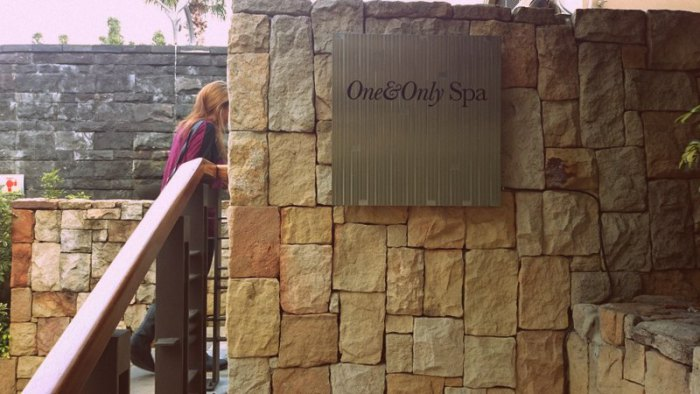 One&Only spa entrance